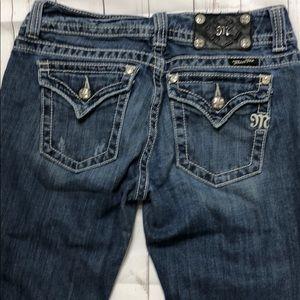 Miss me rhinestones jeans bootcut size 29